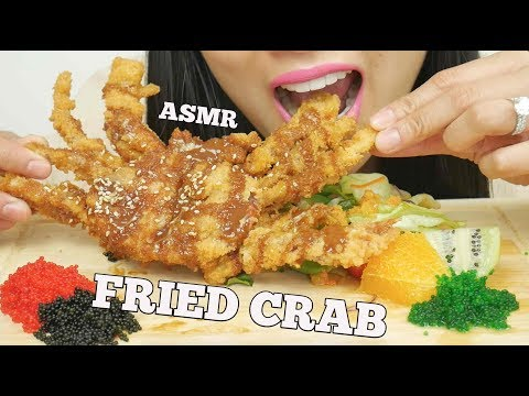 ASMR DEEP FRIED SOFT SHELL CRAB + TOBIKO EGGS (EXTREME CRUNCH EATING SOUNDS) No Talking | SAS-ASMR