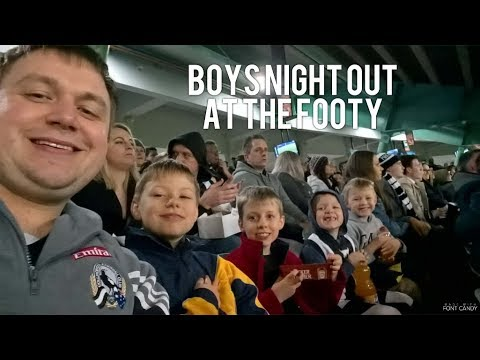 Boy's Night Out At The Footy || Australian Large Family Of 13  || AFL
