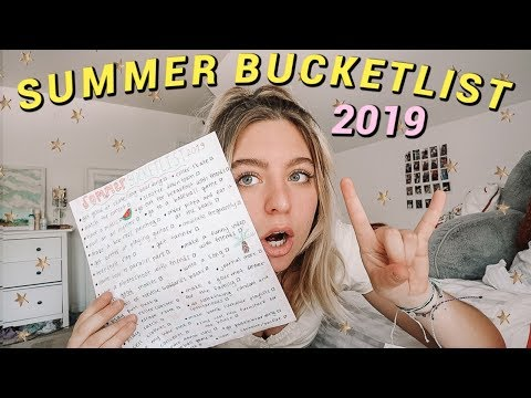 My Summer Bucketlist 2019 // Fun Things To Do This Summer