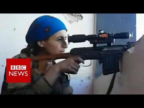Female Kurdish sniper cheats death at hands of IS- BBC News