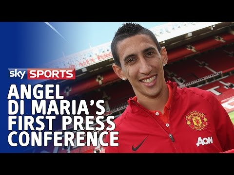 angel - Angel di Maria was was officially presented as a Manchester United player, stating he hopes to follow in the footsteps of Cristiano Ronaldo after taking the famous number seven shirt. Could...