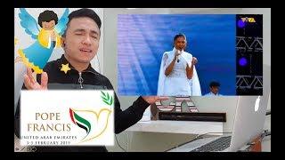 Video Sarah Geronimo | The Prayer | The Papal Visit in UAE | CK Reaction MP3, 3GP, MP4, WEBM, AVI, FLV Maret 2019