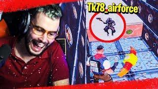 JE PRANK TK EN PLEIN PARCOURS DE LA MORT SUR FORTNITE !!!
