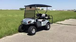 10. 2016 E-Z-GO EXPRESS S4 GAS SILVER FOR SALE AT POWER EQUIPMENT SOLUTIONS