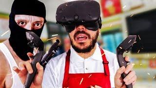 Video J'ME FAIS BRAQUER MON ÉPICERIE ! - Job Simulator HTC Vive MP3, 3GP, MP4, WEBM, AVI, FLV Juli 2017
