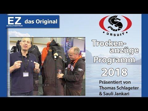 Das URSUIT Trockenanzug Programm 2018 für Angler, Bootsfahrer, Kajakfahrer, usw. / Echolotzentrum