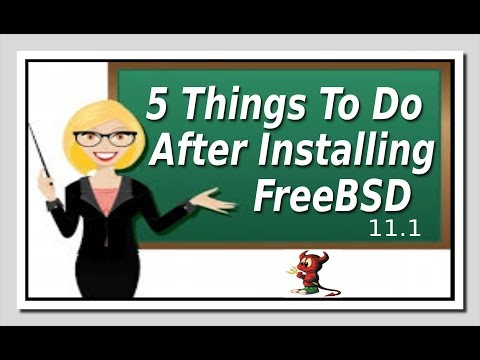 Video 5 Things To Do After Installing FreeBSD download in MP3, 3GP, MP4, WEBM, AVI, FLV January 2017