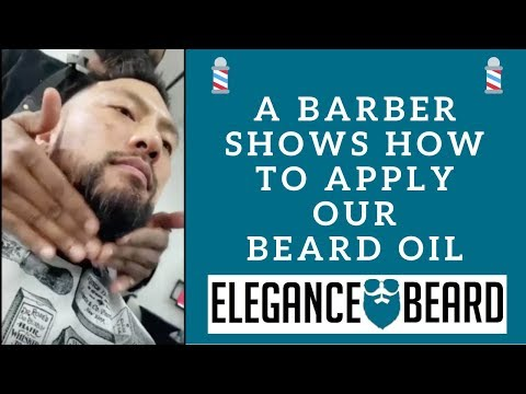 A Barber Shows How to Apply Our Beard Oil