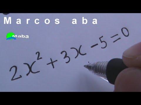 Equação do segundo grau - matemática