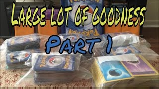 PART 1: POKEMON CARDS LARGE LOT. THNK U MICHAEL!!! by Demon SnowKing
