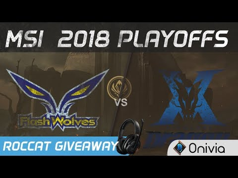 FW vs KZ Highlights Game 1 MSI 2018 Playoffs Flash Wolves vs KingZone DragonX by Onivia (видео)