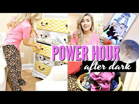 AFTER DARK POWER HOUR   RELAXING CLEAN WITH ME   SPEED CLEANING   LoveMeg (видео)