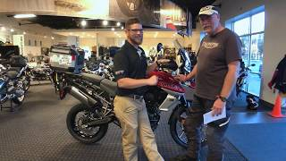 9. 2018 Triumph Tiger 800 XCa in Korosi Red Delivery by Nate Jennings @ Frontline Eurosports