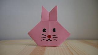 Оригами. Как сделать зайца из бумаги (видео урок)