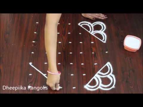 Video best rangoli design with 7x7 dots beginners kolam latest rangoli designs for kids chukkala muggulu download in MP3, 3GP, MP4, WEBM, AVI, FLV January 2017