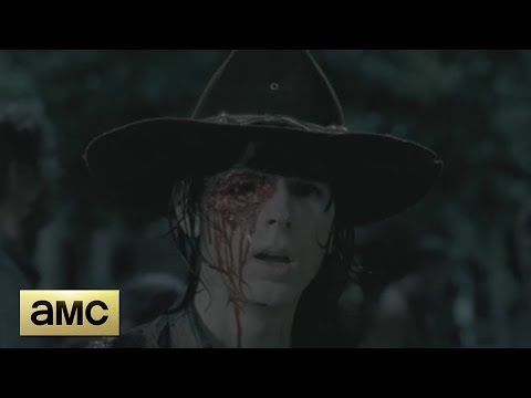 The Walking Dead 6x09 - Carl Loses His Eye Scene
