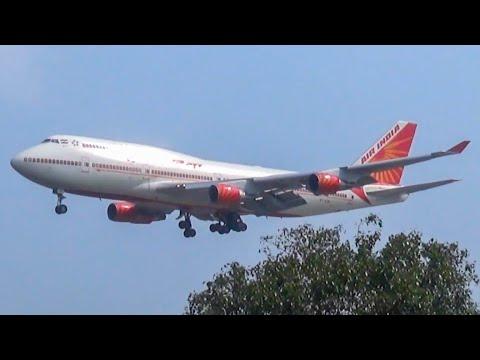 Video Air India Boeing 747-400 VT-EVA beautiful landing in Mumbai - Plane spotting in India download in MP3, 3GP, MP4, WEBM, AVI, FLV January 2017