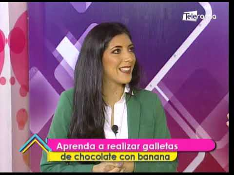 Aprenda a realizar galletas de chocolate con banana