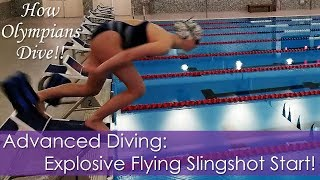 Diving How-To: Explosive Flying Slingshot Start Drill! | How to Dive Like an Olympian!!
