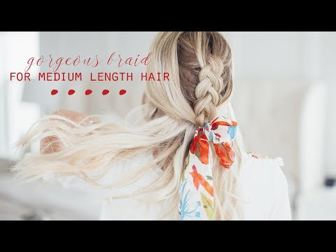 Braid hairstyles - Gorgeous Braid for Medium Length Hair!  Twist Me Pretty