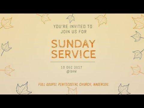 SUNDAY SERVICE ( 10-12-2017)