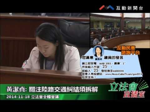 黃潔貞 20141118立法會全體會議
