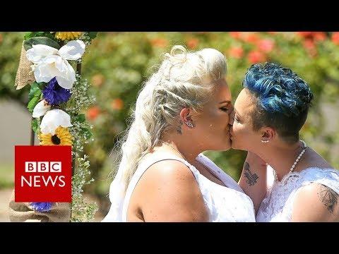 Australia's first same sex wedding takes place - BBC News