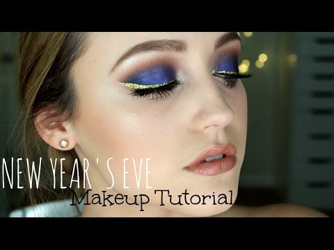 Blue New Year's Eve Makeup Tutorial