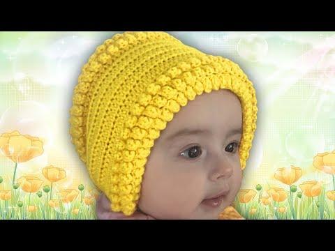 ✅ШАПОЧКА, ЧЕПЧИК, для новорожденных, вязание КРЮЧКОМ, для начинающих видео