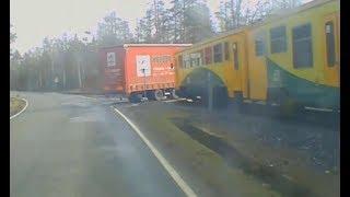 Kierowca TIRa myślał, że zdąży przed pociągiem. Nagranie z wideorejestratora