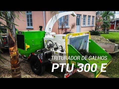 Triturador de galhos para limpeza urbana com motor eletrônico - Lippel PTU 300 E