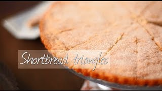 Shortbread triangles
