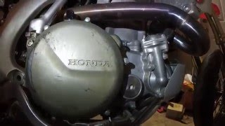 10. Honda CRF450 Transmission side oil change