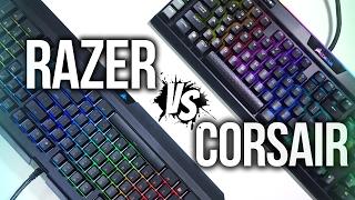 Razer Blackwidow Chroma V2 vs Corsair Gaming K95 Platinum RGB Keyboard Comparison!