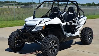 6. $18,799:  2015 Arctic Cat Wildcat X in White Metallic Overview and Review