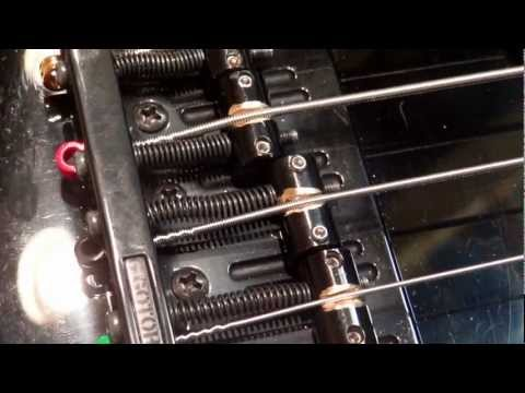 Gotoh 201 Bridge Saddle Modification on Warmoth Bass