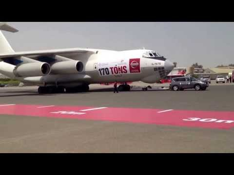 Nissan attempts world record for towing