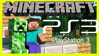 Minecraft Ps3 (Playstation 3) Edition/Version Gameplay Part 1 - SURVIVING OUR FIRST NIGHT!