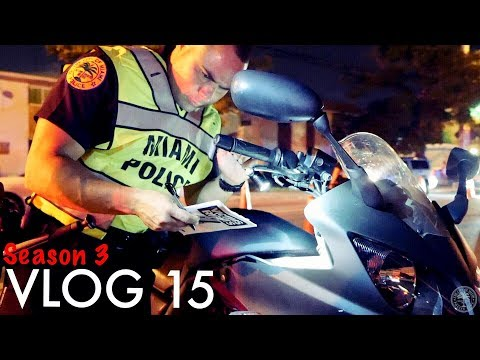 Miami Police VLOG: Stolen Motorcycle At The DUI Checkpoint