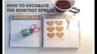 How To: Decorating The November 2014 Monthly Spread | Anita Anglin