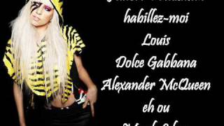 Lady GaGa videoklipp Fashion (Lyrics On Screen)