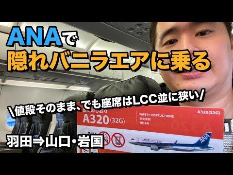 新導入!ANAの元バニラエア機(32G)に搭乗!ハズレ座席?!(羽田⇒岩国)