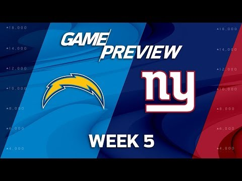 Video: Los Angeles Chargers vs. New York Giants | Week 5 Game Preview | NFL