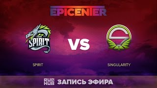 Spirit vs Singularity, EPICENTER EU Quals, game 1 [V1lat, GodHunt]