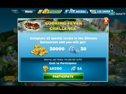 Cooking Fever - Challenge In Chinese Restaurant Part 2 | Level 4, 5, 6 Cooking Tournament GamePlay