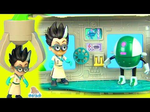 Герои в Масках игровой набор для детей! Секретная Лаборатория Ромео PJ Masks Детский мультик