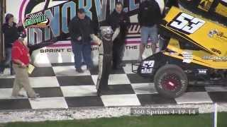 360 Highlights: April 19th, 2014 Knoxville Raceway / Pella Motors Race for Schools Season Opener