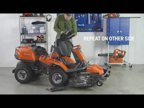Садовый райдер бензиновый HUSQVARNA R 316TX AWD - видео №3