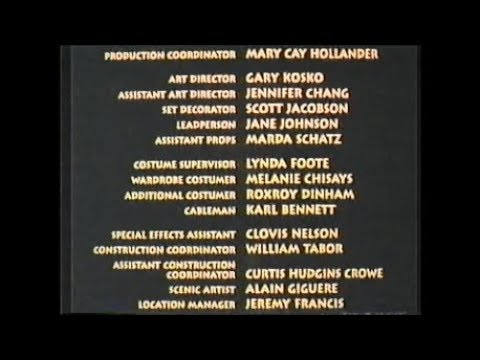 Cool Runnings (1993) End Credits (Disney Channel 2004)