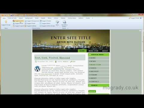Artisteer Tutorial WordPress 1/14  Introduction